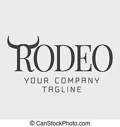 logo, américain, vecteur, rodéo
