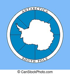 logo, antarctique, continent