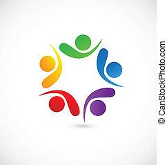 logo, app, social, collaboration, média