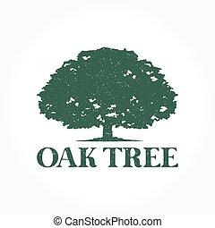 logo, arbre, chêne