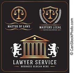 logo, avocat, service, bureau