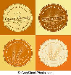logo., cadre, oreille, blé, agriculture