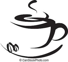 logo, café