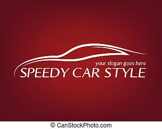 logo, calligraphic, voiture