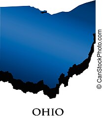 logo, carte, 3d, ohio