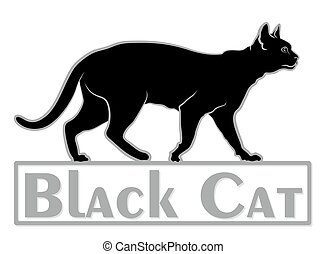 logo, cat.