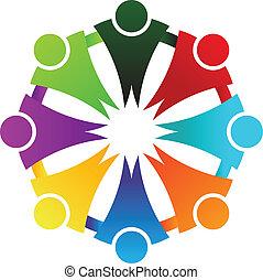 logo, cercle, business, social