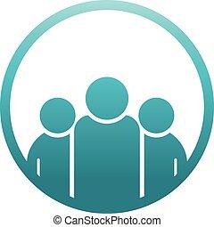 logo, cercle, concepteurs, équipe