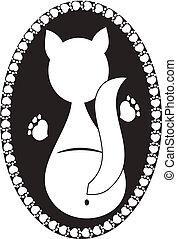 logo, chat