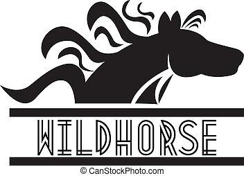 logo, cheval