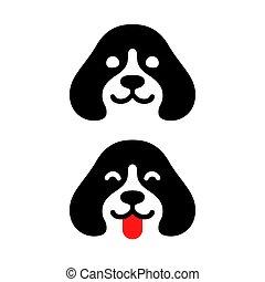 logo, chien, minimal