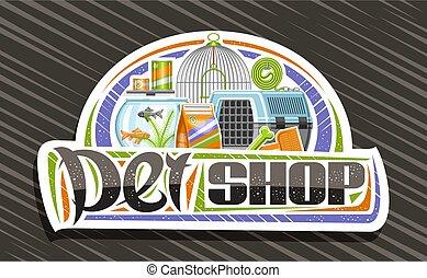 logo, chouchou, vecteur, magasin