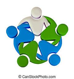 logo, collaboration, 3d, éditorial