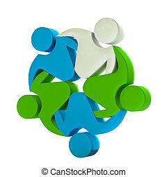 logo, collaboration, 3d, business