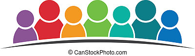 logo, collaboration, 7 personnes