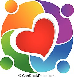 logo, collaboration, amour