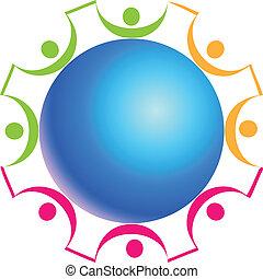 logo, collaboration, autour de