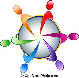 logo, collaboration, communauté