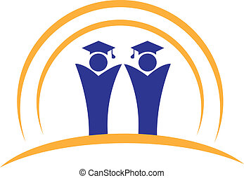 logo, collaboration, diplômés