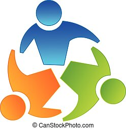 logo, collaboration, partenaires, concept