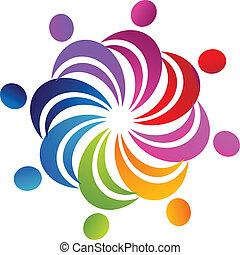 logo, collaboration, social, figures
