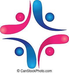 logo, collaboration, swooshes