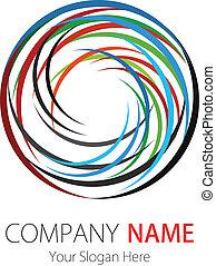 logo, compagnie, arc, conception, cercle