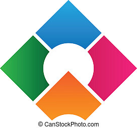 logo, conception, constitué, gabarit