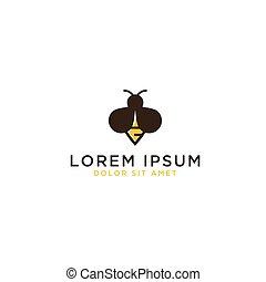 logo, conception, gabarit, abeille