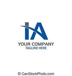 logo, conception, lettre, créatif