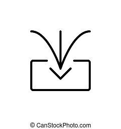 logo, conception, ligne, gabarit, icône, style., importation, toile, parfait, application, présentation