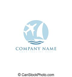 logo, conception, vecteur, agence, voyage