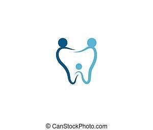 logo, dentaire, gabarit, soin