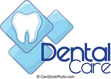 logo, dentaire, vecteur