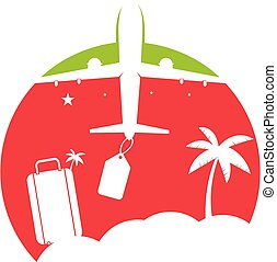 logo, design., voyage