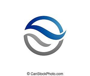 logo, eau, gabarit
