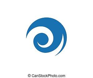 logo, eau, gabarit, vague