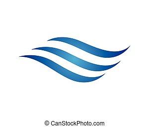 logo, eau, vague