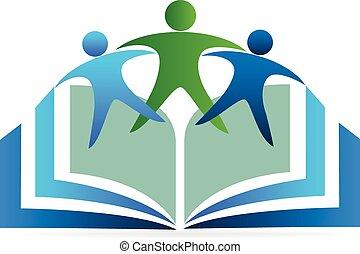logo, education, livre