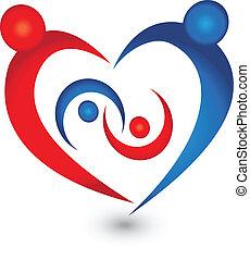logo, famille, vecteur, symbole