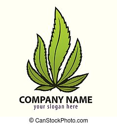 logo, feuille verte, fougère