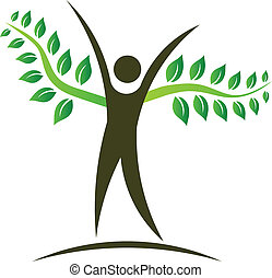 logo, gens, conception, arbre, élément