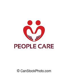 logo, gens, soin, conception