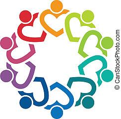 logo, image, équipe, 10, coeur