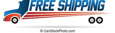 logo, image, camion, gratuite, expédition
