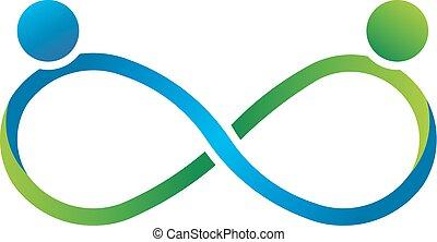 logo, infinité, partenaires, collaboration