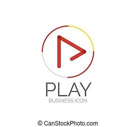 logo, ligne, conception, minimal