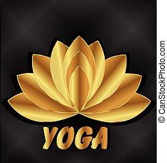 logo, méditation, lotus, yoga