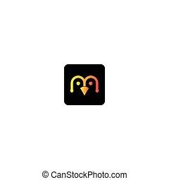 logo, manchots, vecteur, icône