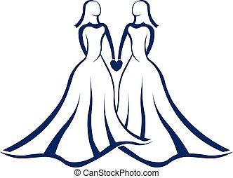 logo, mariage, même, sexe
